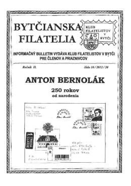 Číslo 10/2012 - Klub filatelistov Bytča KF 53-38