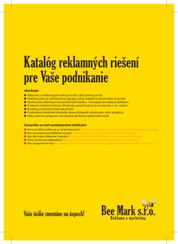 Katalóg reklamných riešení pre Vaše podnikanie