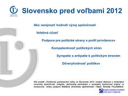 Slovensko pred voľbami 2012 – grafy