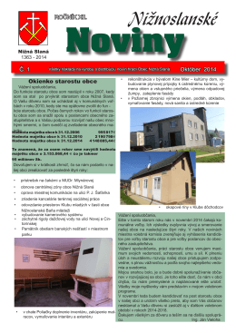 Nižnoslanské noviny 1-2014