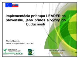 IROP 2014-2020 / Implementácia prístupu LEADER na