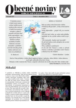 Obecné noviny - december 2014