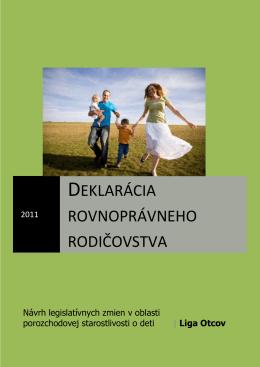 Deklarácia rovnoprávneho rodičovstva Návrh