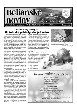 Belianske noviny ročník III. číslo 2 z 12/2013