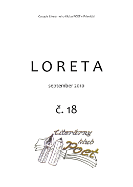 LORETA č.18 - Literárny klub POET Prievidza