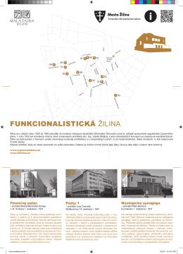 Funkcionalistický okruh mestom Žilina - leták