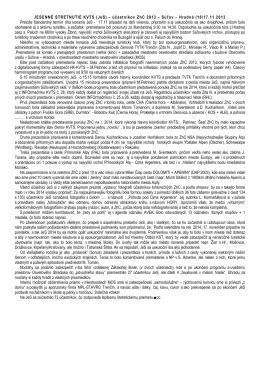 JESENNÉ STRETNUTIE KVTS (JeS) – účastníkov ZhC 2013 – Súľov