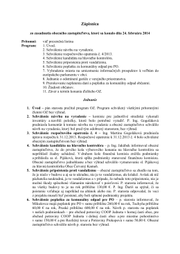 zapisnica_24.2.2014 - Obec Červený Kameň