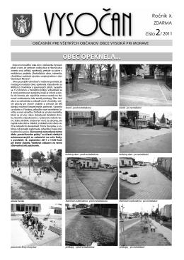 Vysočan, rok 2011, 2. číslo