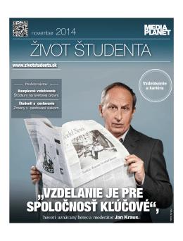 život študenta - Slovenská poľnohospodárska univerzita v Nitre