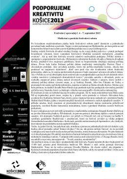 Festivalový spravodaj č. 4 - FESTIVAL DIVADIEL STREDNEJ