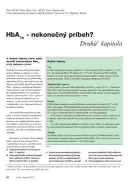 HbA - nekonečný príbeh? Druhá1 kapitola