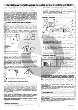 Bezdrôtový kombinovaný detektor dymu a teploty