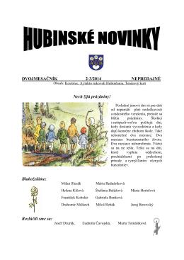 Hubinské novinky 2-3/2014