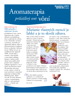 Aromaterapia Newsletter! - NATUR