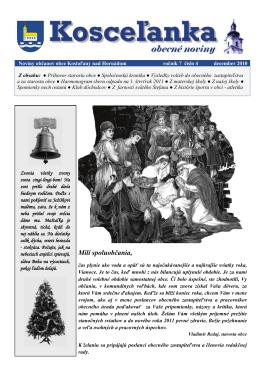 rok 2010 číslo 4 - Kostoľany nad Hornádom