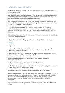 Európska charta pre malé podniky