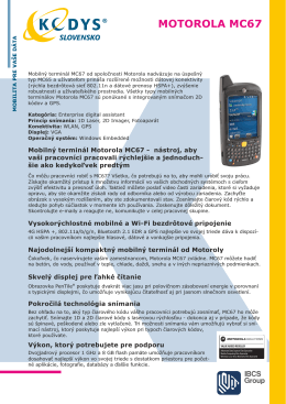 Prospekt Motorola MC67 (.pdf)