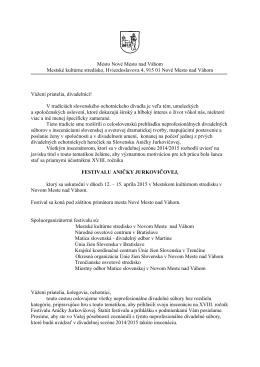 oslovenie 2015 (pdf) - MsKS, Nové Mesto nad Váhom