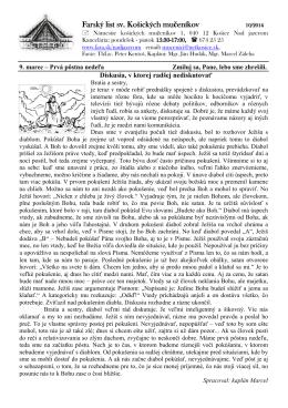 9. Marec 2014 - Farnosť sv. košických mučeníkov