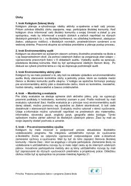 Prehľad úloh k 7 krokom