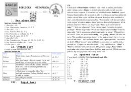 Školské kolo 2014 - správne odpovede