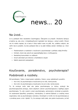Coachingplus newsletter 7/2011