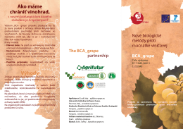 Výhody Ako máme chrániť vinohrad, - BCA