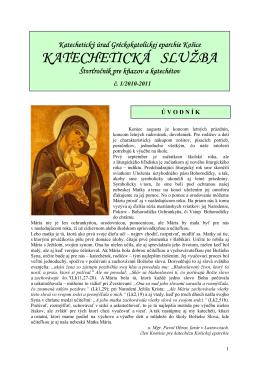 KATECHETICKÁ SLUŽBA - Gréckokatolícka eparchia Košice