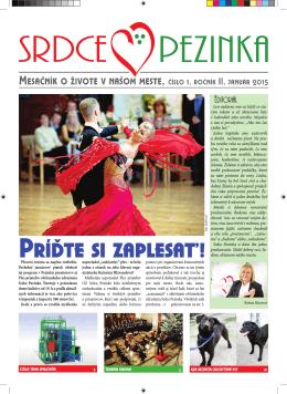 Január 2015 - Srdce Pezinka
