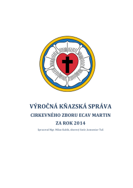 výročná kňazská správa cz v martine za rok 2014