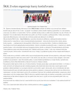 Prepis článku - Športový krasokorčuliarsky klub mesta Zvolen
