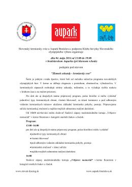 Program - Slovenský šerm