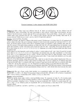Vzorové riešenia 3. série zimnej casti KMS 2014/2015