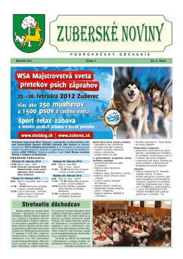 Zuberské noviny 1/2012 Formát PDF