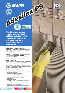 Flexibilné cementové lepidlo na keramické obklady a dlažby veľmi