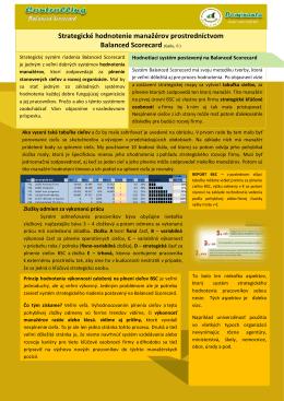Strategické hodnotenie manažérov prostredníctvom