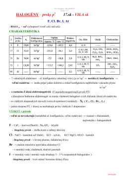 HALOGÉNY– prvky p 17.sk