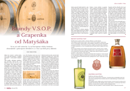 Brandy V.S.O.P. a Grapenka od Matyšáka