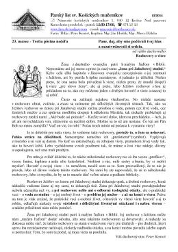 23. Marec 2014 - Farnosť sv. košických mučeníkov