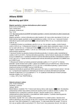 kompletný monitoring médií na tému 2.pilier - apríl 2014