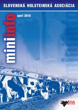 MiniInfo 04/2010 - Slovenská holsteinská asociácia