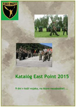 Katalógu EAST POINT 2015 - East Point - Letný tábor