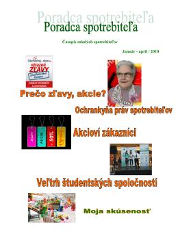 Poradca spotrebiteľa - Spojená škola Svidník