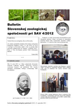 2012/4 - Slovenská zoologická spoločnosť pri SAV