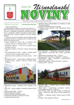 Nižnoslanské noviny 2-2010