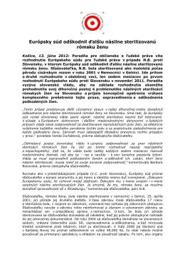 PDF, 85 KB - Poradňa pre občianske a ľudské práva