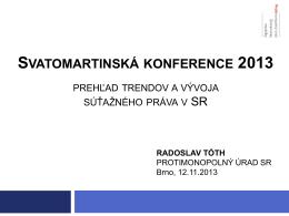 svatomartinská konference 2013