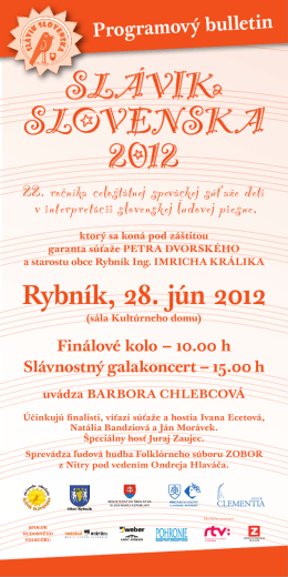 SLÁVIKa SLOVENSKA 2012