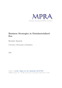 Business Strategies in Deindustrialized Era